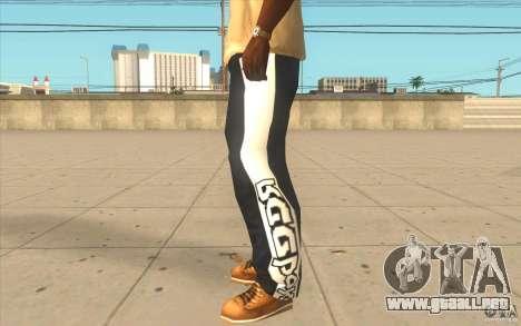 Reebok Sporthose para GTA San Andreas segunda pantalla