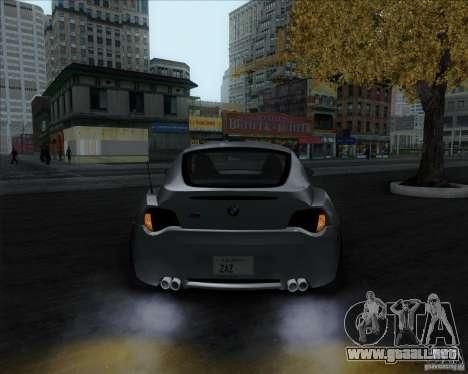 BMW Z4M para GTA San Andreas vista posterior izquierda