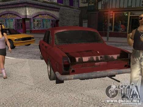 Volga Gaz M24-Rusty muerte para GTA San Andreas vista posterior izquierda