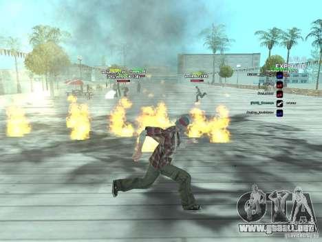 SA:MP 0.3d para GTA San Andreas sucesivamente de pantalla