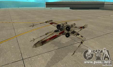 X-WING de Star Wars v1 para la vista superior GTA San Andreas