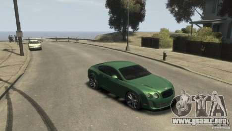 Bentley Continental SS para GTA 4 Vista posterior izquierda