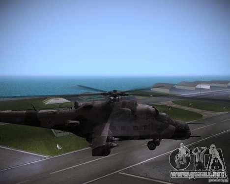 Mi-35 para GTA Vice City visión correcta