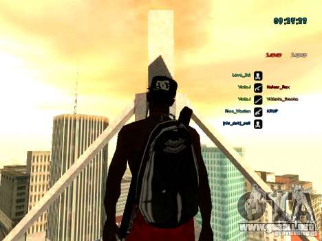 Mochila-paracaídas para GTA: SA para GTA San Andreas
