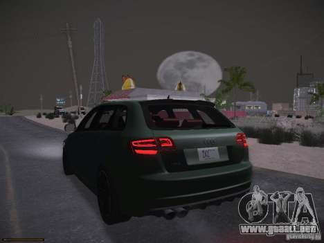 Audi RS3 2011 para la vista superior GTA San Andreas