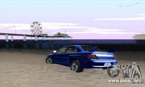 Mitsubishi Lancer Evolution 9 MR Edition para la visión correcta GTA San Andreas