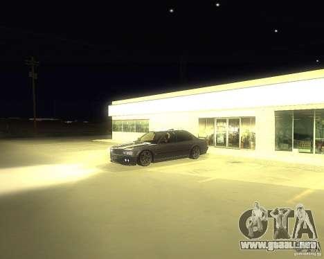 BMW 740i Update para la visión correcta GTA San Andreas