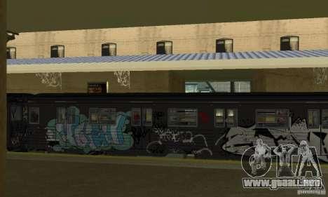 GTA IV Enterable Train para GTA San Andreas vista hacia atrás