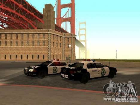 Police Civic Cruiser NFS MW para GTA San Andreas vista posterior izquierda