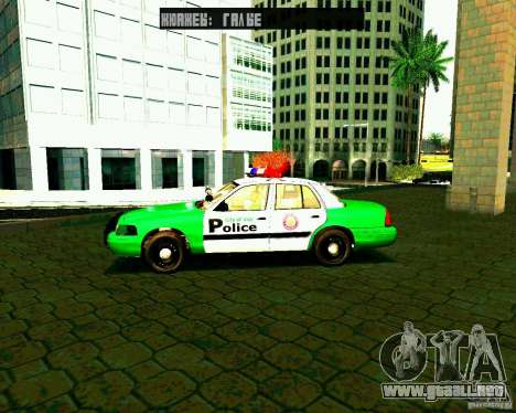 Ford Crown Victoria 2003 Police Interceptor VCPD para GTA San Andreas left