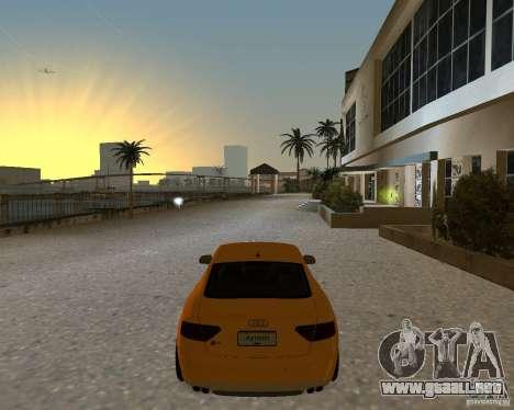 Audi S5 para GTA Vice City vista lateral izquierdo