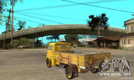 Tempo Matador 1952 Bus Barn version 1.1 para GTA San Andreas vista posterior izquierda