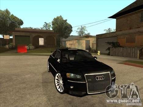 Audi A8 Tuned para GTA San Andreas vista hacia atrás