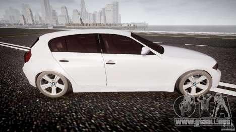 BMW 118i para GTA 4 vista lateral