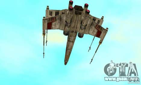 X-WING de Star Wars v1 para GTA San Andreas left