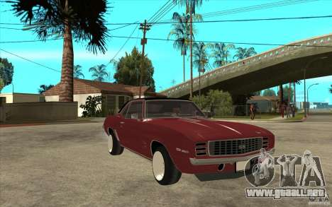 Chevrolet Camaro SS para GTA San Andreas vista hacia atrás