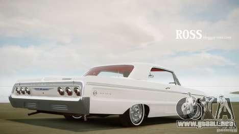 Chevrolet Impala SS 1964 para GTA 4 Vista posterior izquierda