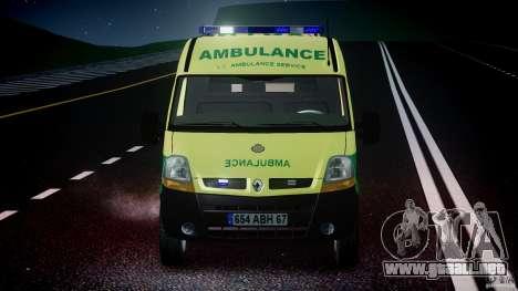 Renault Master 2007 Ambulance Scottish [ELS] para GTA 4 interior