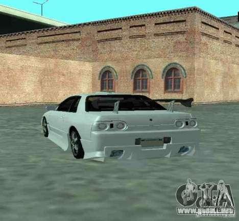 Nissan Skyline R32 GT-R para GTA San Andreas vista hacia atrás