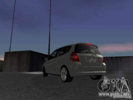 Honda Fit para GTA San Andreas vista posterior izquierda