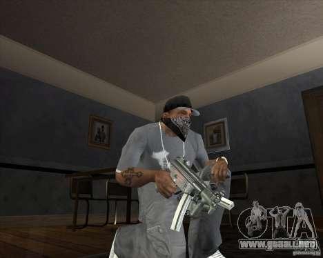 Jarra Mono Arsenal v1.2 para GTA San Andreas sucesivamente de pantalla