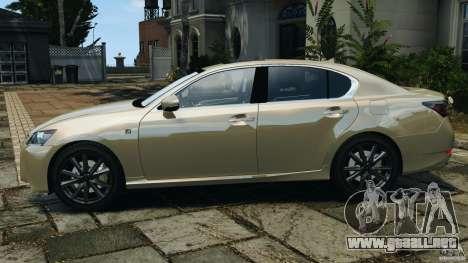 Lexus GS350 2013 v1.0 para GTA 4 left
