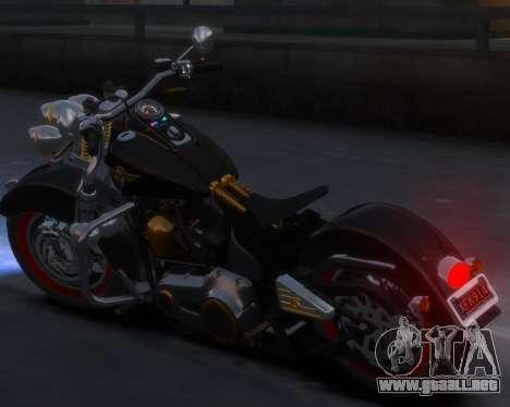 Harley-Davidson Fat Boy Lo (Vintage final) para GTA 4 Vista posterior izquierda