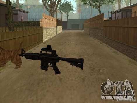 Gato en cambio silenciador en el M4 para GTA San Andreas tercera pantalla
