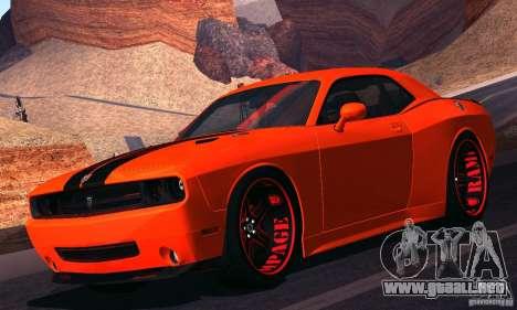 Dodge Quinton Rampage Jackson Challenger SRT8 v1 para GTA San Andreas left