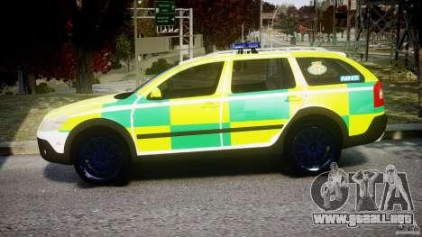 Skoda Octavia Scout Paramedic [ELS] para GTA 4 left