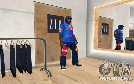Red Bull Clothes v2.0 para GTA San Andreas