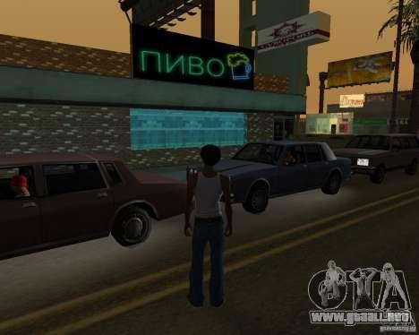 Russian shop para GTA San Andreas tercera pantalla