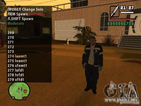 GTA IV peds to SA pack 100 peds para GTA San Andreas quinta pantalla