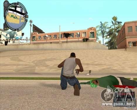 Real Weapons Drop Mod beta para GTA San Andreas segunda pantalla