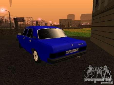 Volga GAZ 31029 para GTA San Andreas vista posterior izquierda