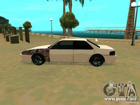 New Sultan v1.0 para GTA San Andreas vista hacia atrás