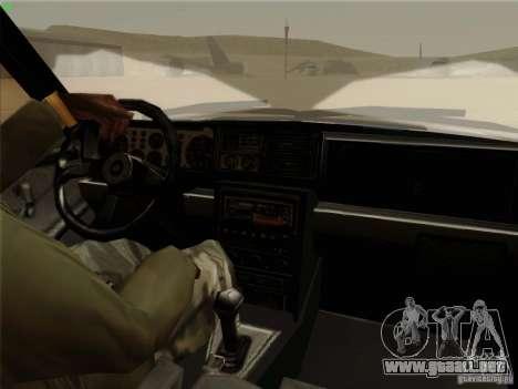 Lancia Integrale Evo para visión interna GTA San Andreas