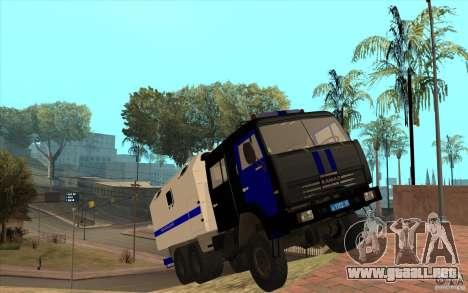 Policía Kamaz para visión interna GTA San Andreas