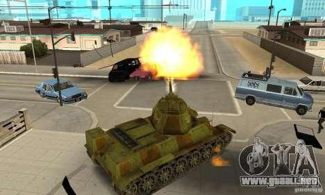 Tanque T-34/76 para la visión correcta GTA San Andreas