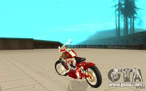 Orange County Chopper Sunshine para GTA San Andreas vista posterior izquierda