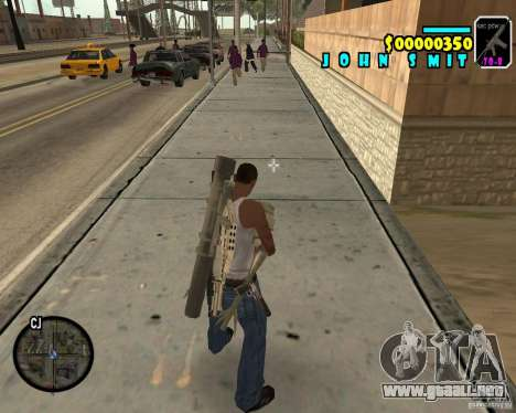 HUD Adidas para GTA San Andreas tercera pantalla