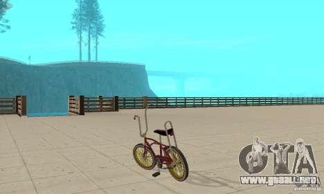 CUSTOM BIKES BIKE para GTA San Andreas vista posterior izquierda