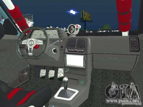 VAZ 2110 ADT Tuning para GTA San Andreas vista posterior izquierda