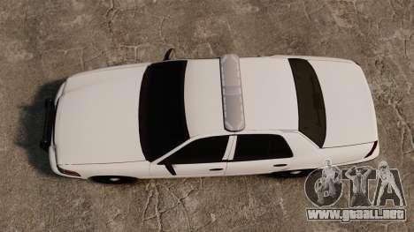 Ford Crown Victoria Unmarked ELS para GTA 4 visión correcta