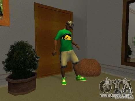 Nuevas zapatillas verdes para GTA San Andreas