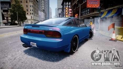 Nissan 240sx v1.0 para GTA 4 Vista posterior izquierda