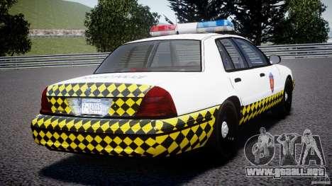 Ford Crown Victoria Karachi Traffic Police para GTA 4 Vista posterior izquierda
