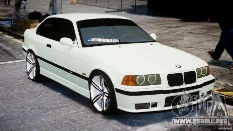 BMW e36 M3 para GTA 4 vista hacia atrás