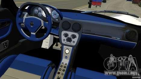 Maserati MC12 para GTA 4 vista hacia atrás