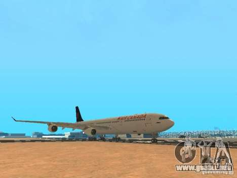 Airbus A340-300 Air Canada para GTA San Andreas left